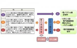 【図-15】胃がん検診後の経過観察 (胃がんリスク検診の結果による)